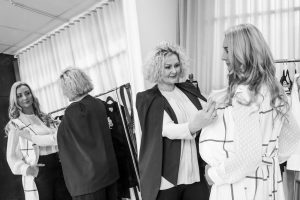 consultation with stylist at fashion boutique