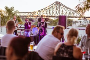 live band playing at a function