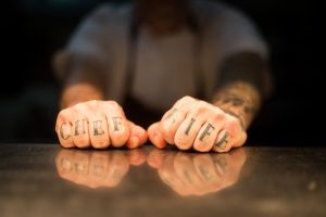 photo of chef's hands