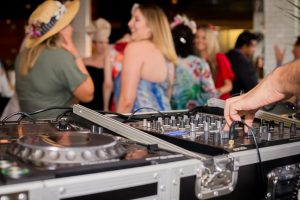 playing music at a function
