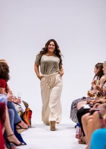 runway model wearing casual outfit