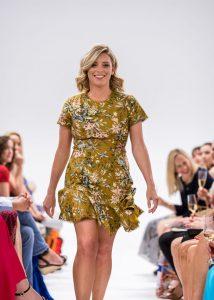 runway model wearing dress