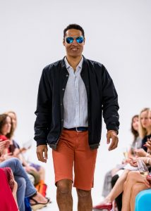male runway model wearing casual outfit
