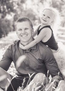 father and young daughter portrait
