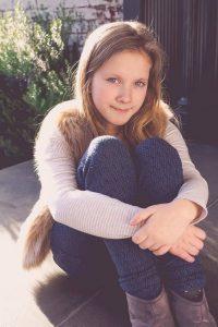 girl sitting portrait