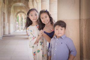 kids standing portrait